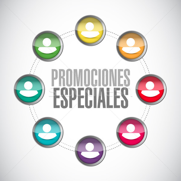 special promotions in Spanish network sign Stock photo © alexmillos