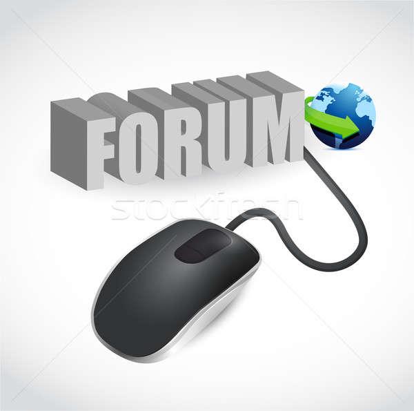 Egér szürke szó fórum modern számítógép egér Stock fotó © alexmillos