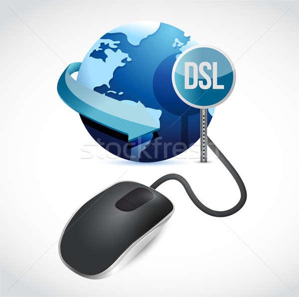 マウス グレー 世界中 dsl にログイン 実例 ストックフォト © alexmillos
