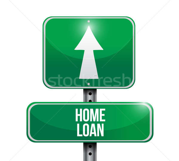 home loan road sign illustration design Stock photo © alexmillos