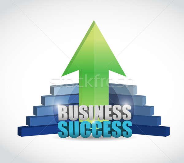 Foto stock: único · negócio · sucesso · gráfico · ilustração · projeto