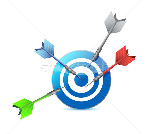 only one hits the target. illustration Stock photo © alexmillos
