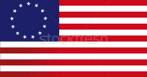 13 colonies flag us - illustration design Stock photo © alexmillos
