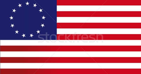 13 bandiera illustrazione design blu star Foto d'archivio © alexmillos
