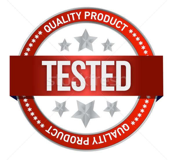 illustration of tested icon on white background Stock photo © alexmillos
