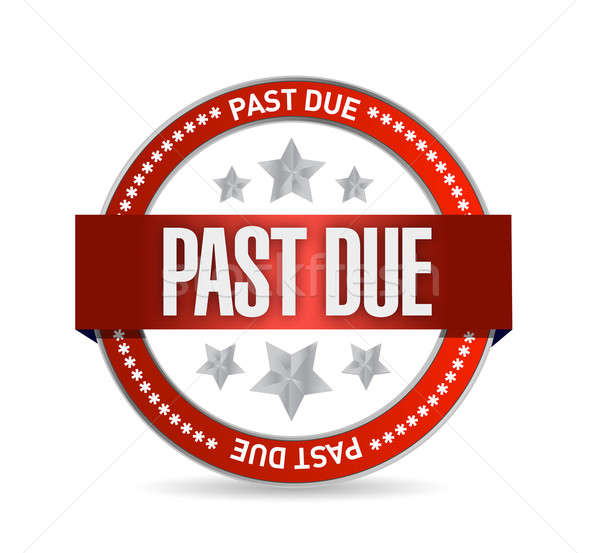 past due seal stamp illustration design over a white background Stock photo © alexmillos