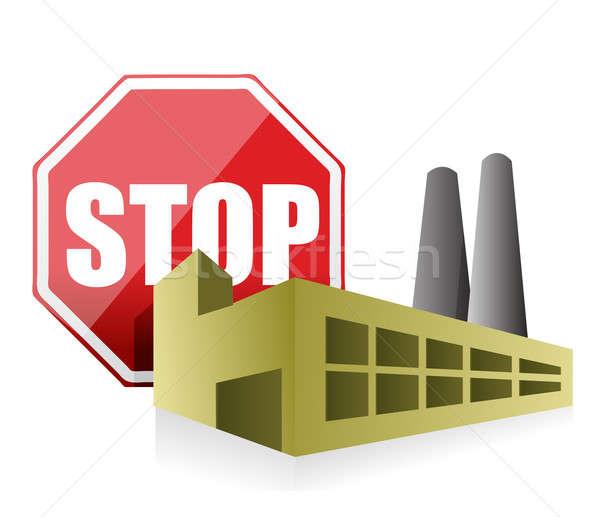 stop pollution environmental concept illustration design over a  Stock photo © alexmillos