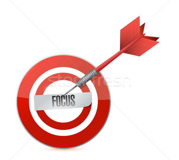 focus target and dart illustration design over a white backgroun Stock photo © alexmillos