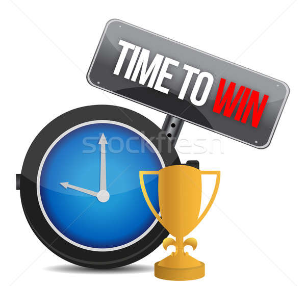time to win watch illustration design over a white background Stock photo © alexmillos