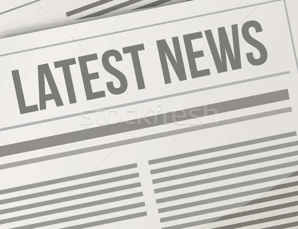Hírek közelkép illusztráció terv grafikus újság Stock fotó © alexmillos