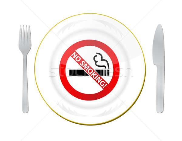 no smoking in this area illustration design over white Stock photo © alexmillos