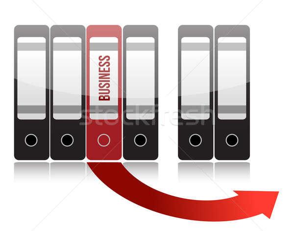 business folder illustration design over a white background Stock photo © alexmillos