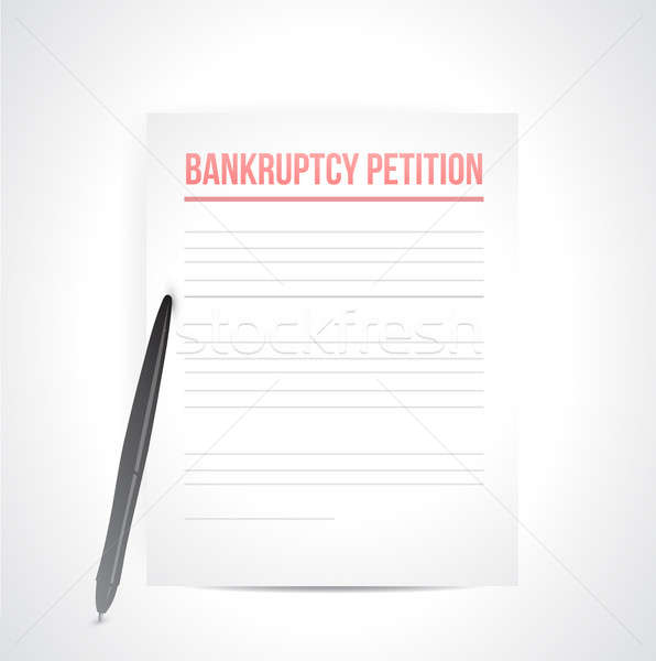 bankruptcy petition illustration design over a white background Stock photo © alexmillos