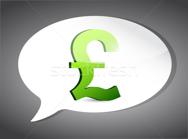 British pound On Speech Bubble illustration Stock photo © alexmillos