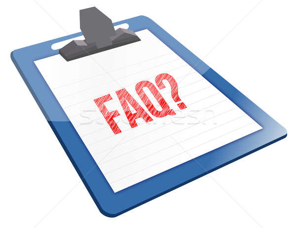 よくある質問 アイコン クリップボード インターネット デザイン 電源 ストックフォト © alexmillos