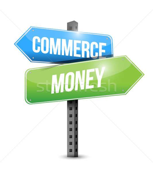 Comércio dinheiro placa sinalizadora ilustração projeto negócio Foto stock © alexmillos