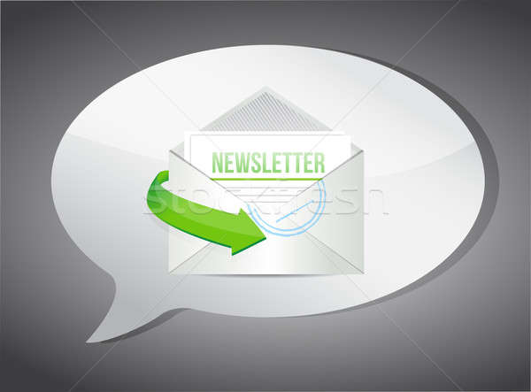 Newsletter E-Mail Informationen Illustration Papier Design Stock foto © alexmillos