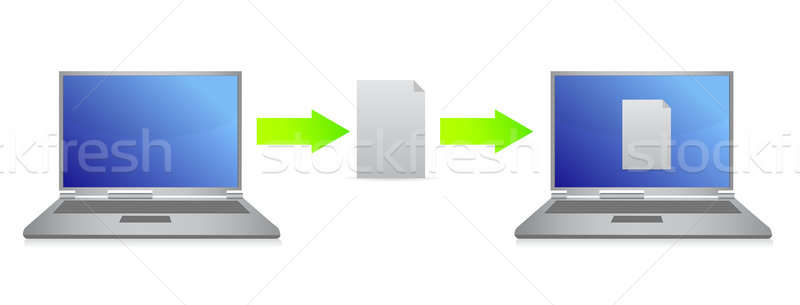 File transfer illustration design Stock photo © alexmillos