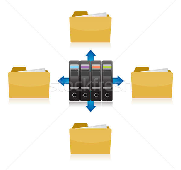 Stok fotoğraf: Klasör · bilgi · depolama · örnek · dizayn · beyaz