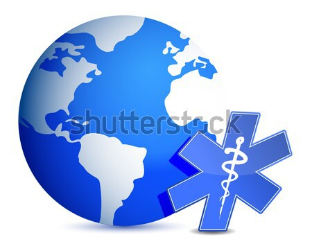 地球 世界中 血液 ドロップ 地図 薬 ストックフォト © alexmillos