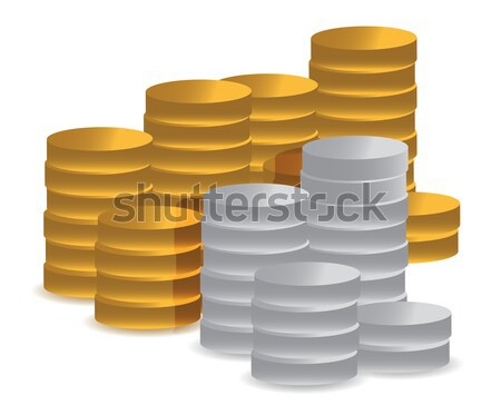 Pile of coins podium Stock photo © alexmillos