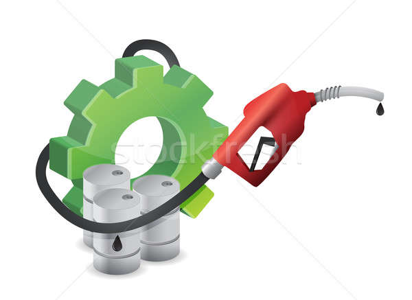 Industrial gear with a gas pump nozzle  Stock photo © alexmillos