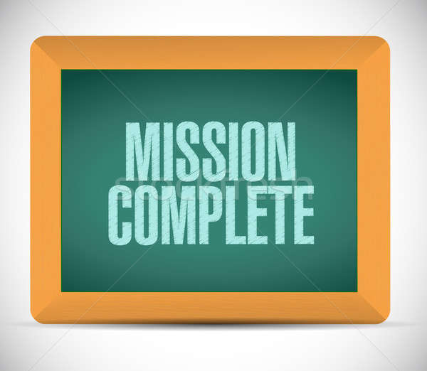mission complete chalkboard sign concept Stock photo © alexmillos
