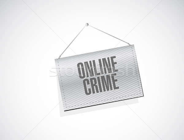 online crime banner sign concept illustration Stock photo © alexmillos