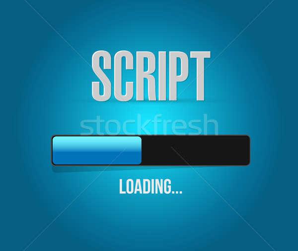 script loading bar sign concept illustration Stock photo © alexmillos