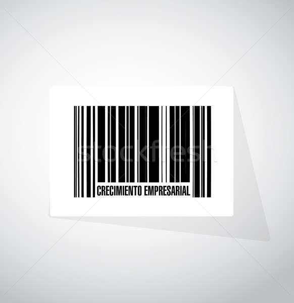 Business groei barcode teken spaans illustratie Stockfoto © alexmillos