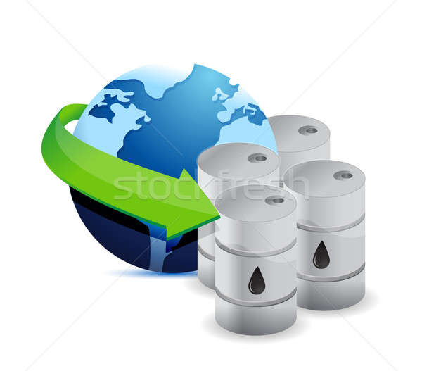 Stock photo: Earth surrounded by petrol
