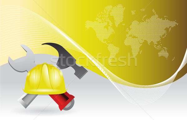 wallpaper construction illustration design Stock photo © alexmillos