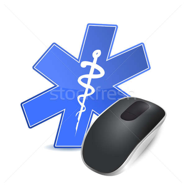 medical technology concept. computer mouse Stock photo © alexmillos