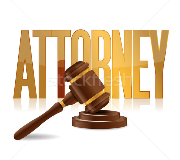 attorney at law sign illustration design Stock photo © alexmillos