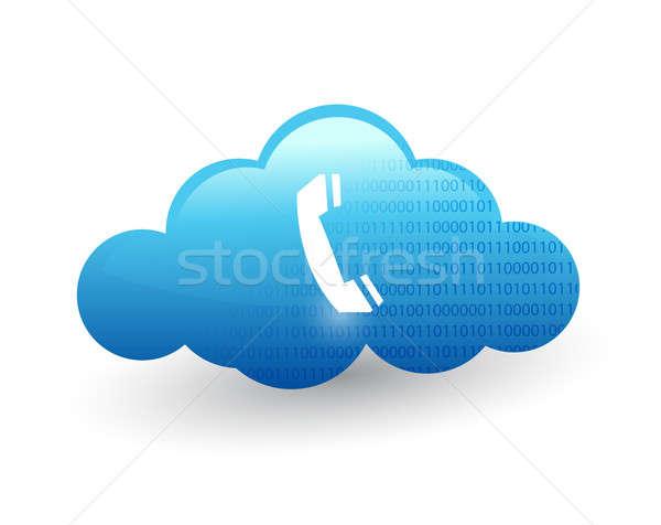 технологий иллюстрация дизайна белый телефон Сток-фото © alexmillos