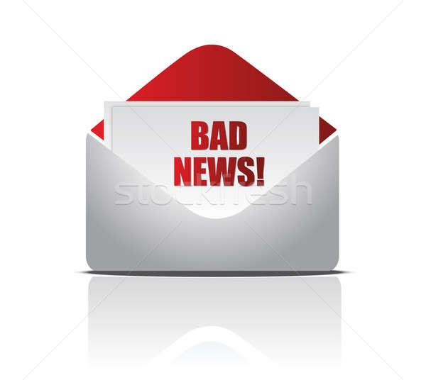 Photo stock: Enveloppe · échec · affaires · papier · mail