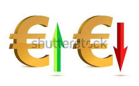 Queda libra assinar moeda vermelho mercado Foto stock © alexmillos
