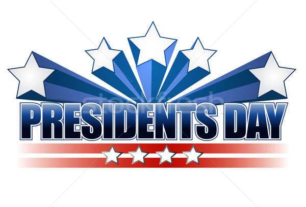presidents day sign isolated over a white background.  Stock photo © alexmillos