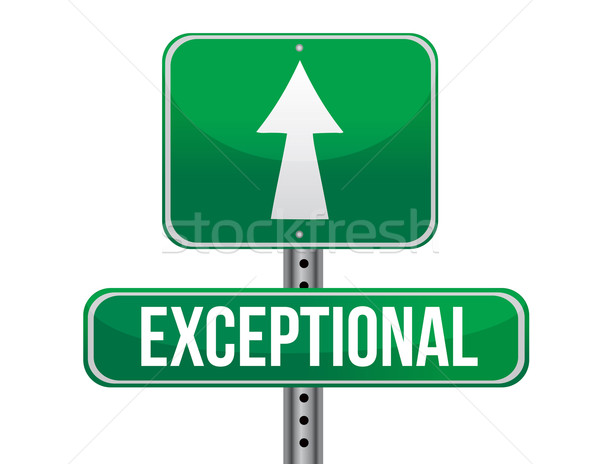 Exceptional road sign illustration design Stock photo © alexmillos