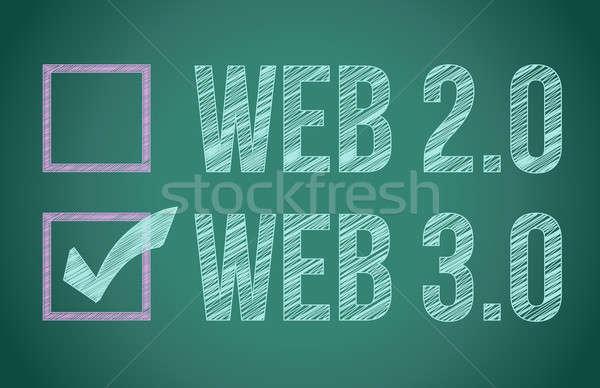 Web tableau noir illustration design graphique affaires Photo stock © alexmillos