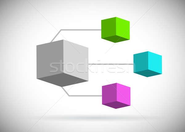 Szkła lustra kolor organizacja polu ilustracja Zdjęcia stock © alexmillos