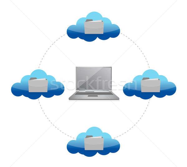Foto stock: Ilustración · diseno · blanco · ordenador · Internet
