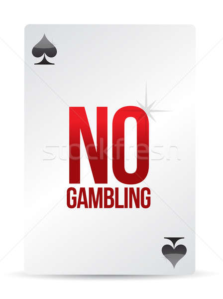 no gambling playing card illustration design over white Stock photo © alexmillos