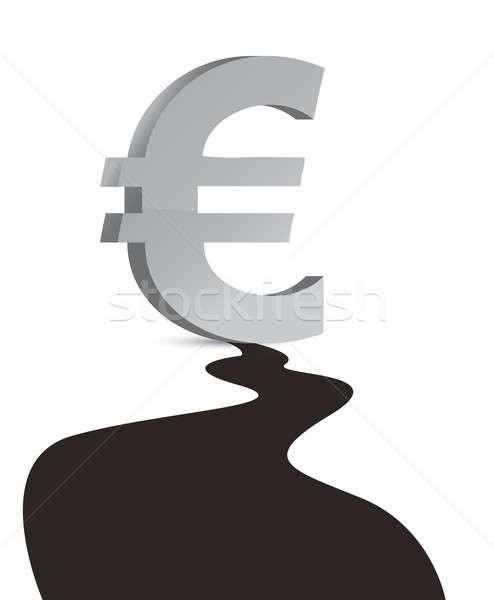 Stockfoto: Euro · olie-industrie · groot · olie · druppel · illustratie