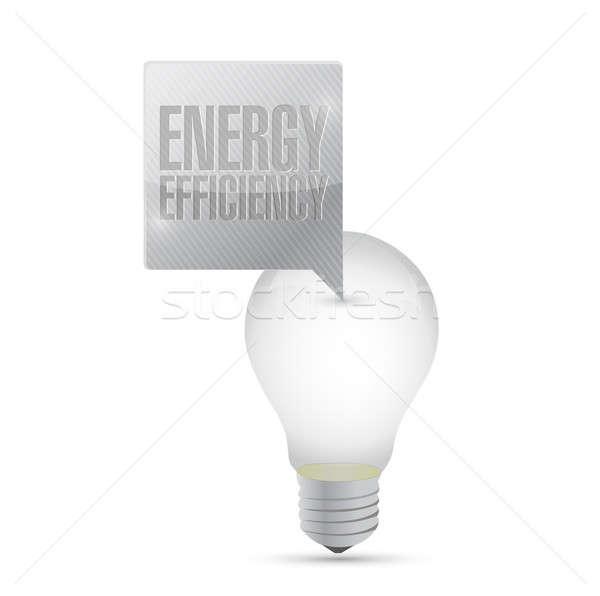 Energy efficiency light bulb illustration design  Stock photo © alexmillos