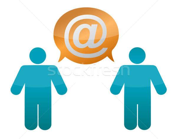 Küldés posta egyéb levél kommunikáció digitális Stock fotó © alexmillos