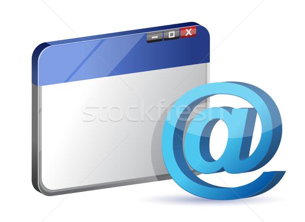 Símbolo navegador trabajo diseno mundo Foto stock © alexmillos