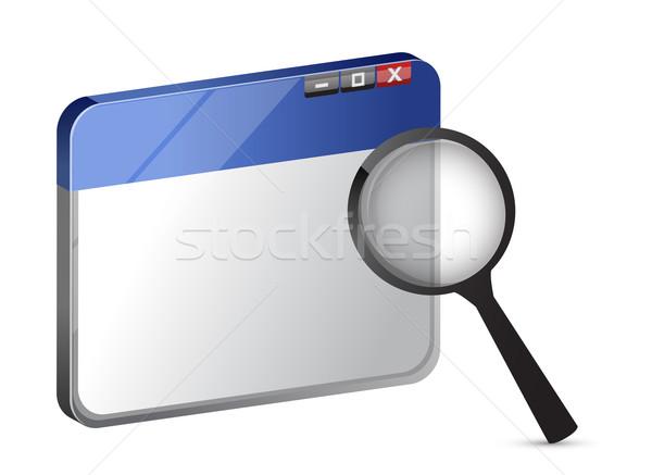 Illustration Internet search icon  Stock photo © alexmillos