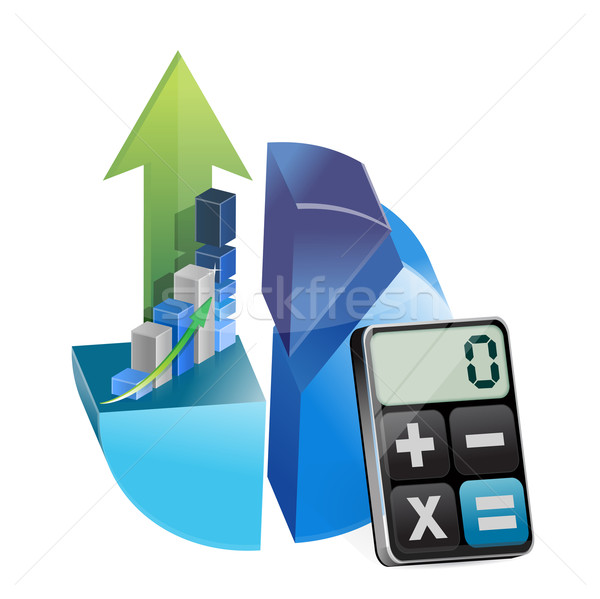Business graphs and modern calculator Stock photo © alexmillos