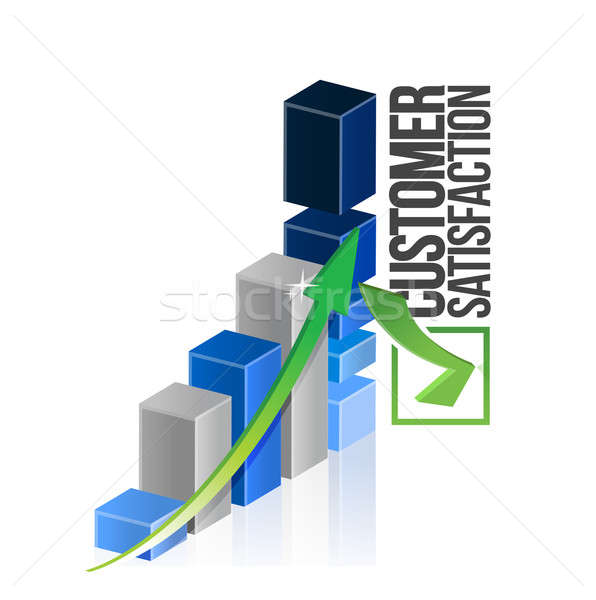 Gráfico de negócio negócio abstrato assinar azul Foto stock © alexmillos
